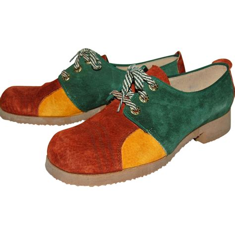 jumping jacks shoes 1960 70s jumping jacks colorblock suede shoes from