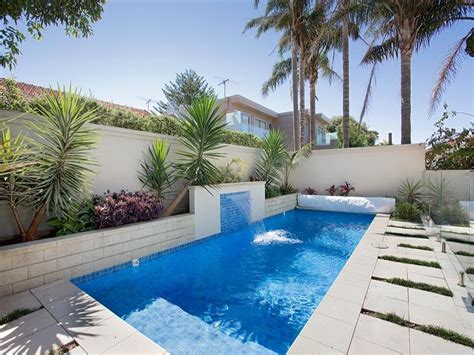 Endless Pool Design Using Bluestone With Pool Fence Pool Garden Design Ideas