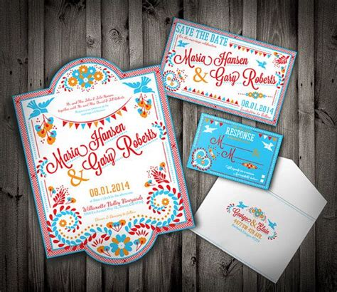 pdf embroidary mexican colorful wedding invitation and suite downloadable custom
