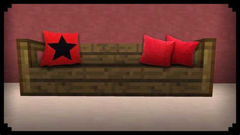 minecraft couch minecraft how to make a sofa pillow youtube