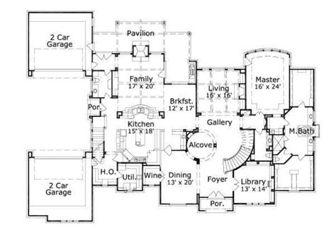 8000 square foot house plans traditional style house plan 5 beds 5 baths 7141 sq ft