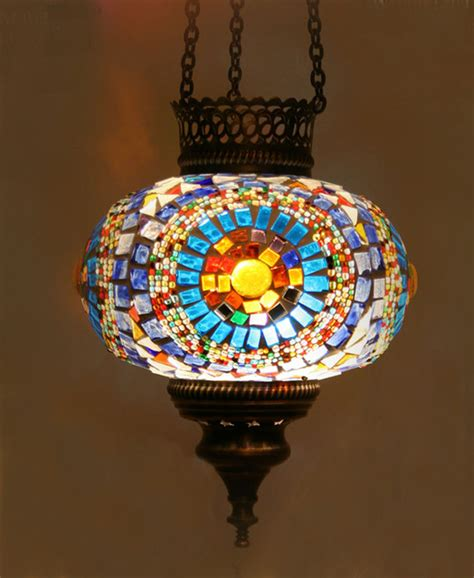 Turkish Pendant Light Turkish Style Mosaic Pendant L 17cm Mediterranean Pendant Lighting Other Metro By