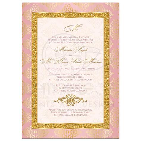 blush pink wedding invitations wedding invitation elegance blush pink gold