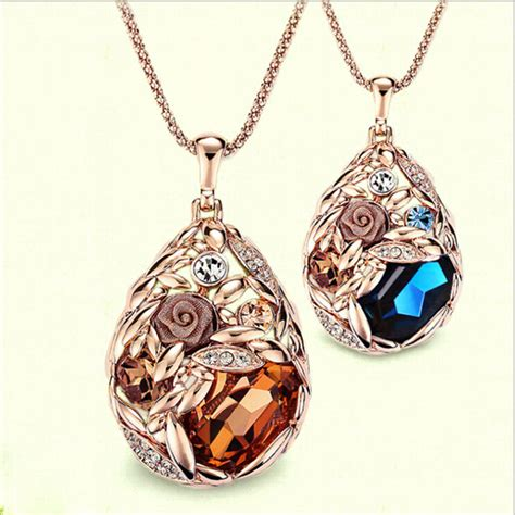 where to buy cheap for jewelry 2015 18k gold teardrop necklace jewelry