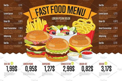 food menu 30 best food drink menu templates design shack