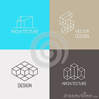 architecture logos stock vector image 59935218