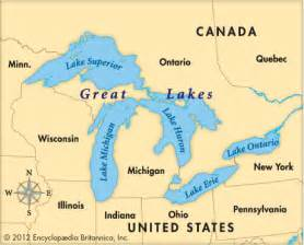 map of us with great lakes labeled united states map 5 great lakes