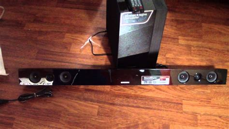 unboxing samsung sound bar hw f450 2 1 channel 280 watt soundbar speaker wireless sound f450 450