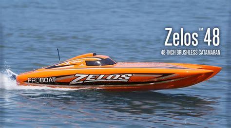 rc pro boats for sale zelos 48 inch brushless catamaran rtr horizonhobby
