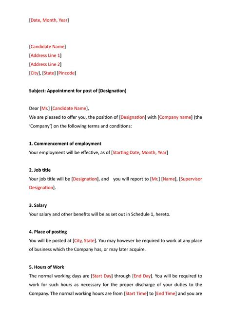 ngo appointment letter format in 20 lovely appointment letter template uk graphics