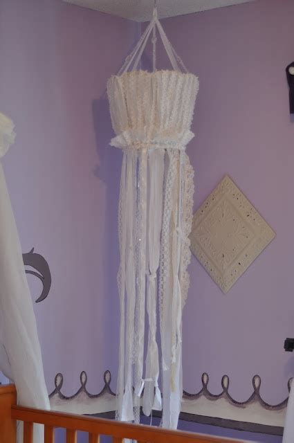 Diy Ribbon Chandelier Made From Antique L Shade And Ribbon Chandelier Diy