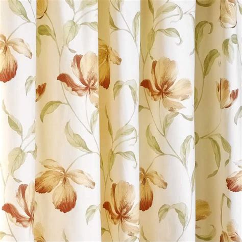 peach floral curtains sundour ascot peach floral readymade pencil pleat curtains