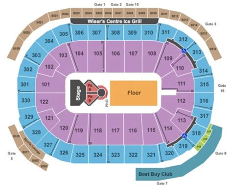 rogers arena floor seating plan rogers arena tickets and rogers arena seating charts