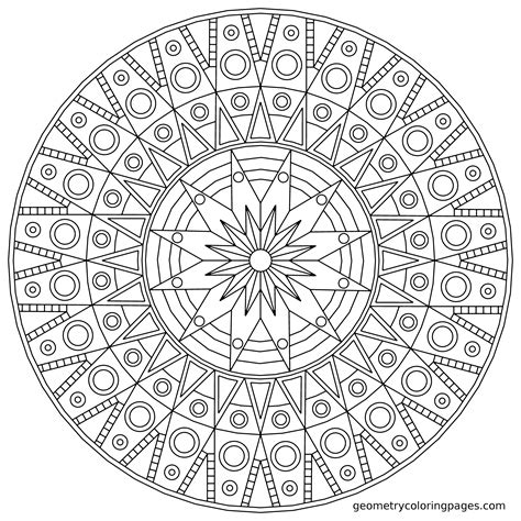 detailed geometric coloring pages to print geometric mandala coloring pages coloring home