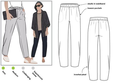 pattern review style arc elle pant besharl pant pdf style arc