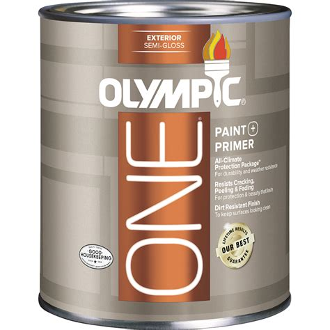 exterior acrylic paint shop olympic one base 5 semi gloss acrylic exterior paint