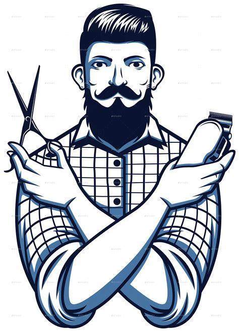 barber shop set  bayurip graphicriver