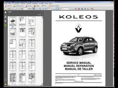 Renault Koleos Manual De Taller Service Manual