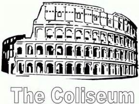 a restored colosseum from ancient rome coloring page netart