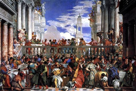 Wedding Feast At Cana Tintoretto by Paolo Veronese S Wedding Feast At Cana Veronese 1528