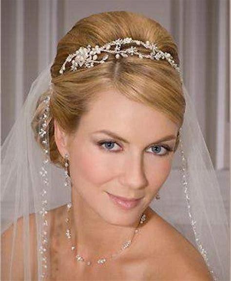 bridal hairstyles tiara bridal hairstyle with tiara