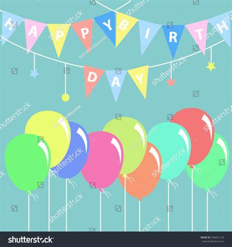 happy birthday flat design happy birthday card flat design vector stock vector
