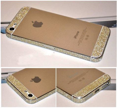 Gliter For Iphone 6 Plus Color Yellow bumper side luxury glitter bling sticker from other