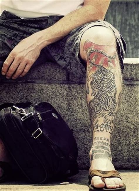 tattoo on leg for men 78 images about leg tattoos for on tiger