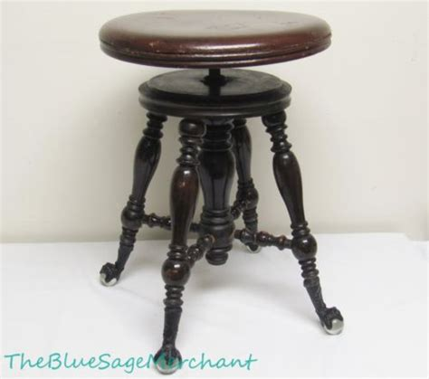 Antique Piano Stool Hardware Restoration by Furniture Antique Price Guide
