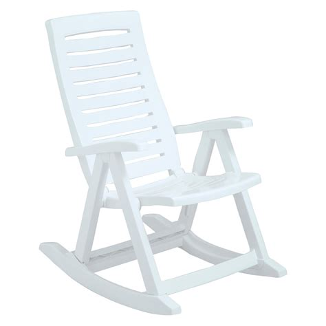 chair plastic outdoor rocking chairs patio white modern