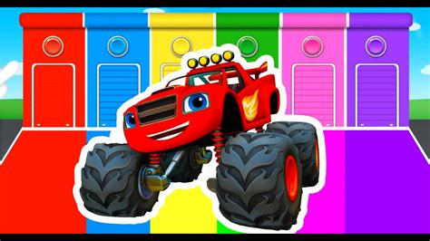 monster truck videos for kids youtube learning colors with monster truck color vehicles for kids