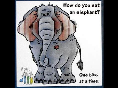 Which Do You Eat by How To Eat An Elephant Goal Setting Plans Taken