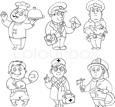 Coloring Pages Of Jobs And Professions | 11 best images of job career worksheet smart goal