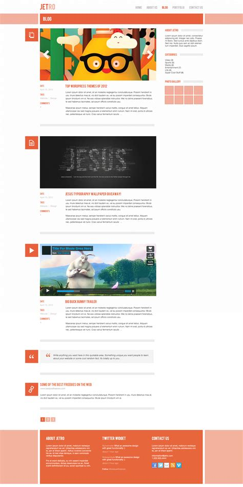 free jetro psd responsive html template free download