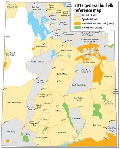 utah reference map first elk hunt q s utah wildlife network