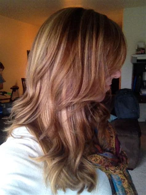 hairstyles copper highlights fall hair color blonde highlights copper lowlights