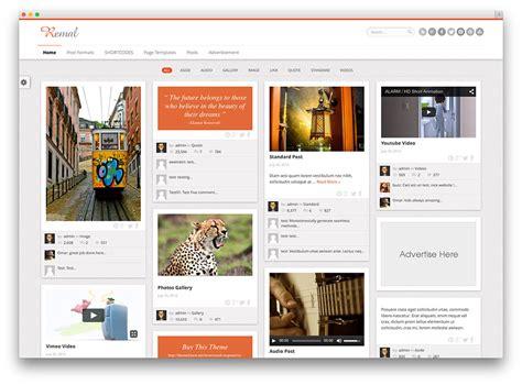 pinterest blog 20 best pinterest style wordpress themes 2017 colorlib