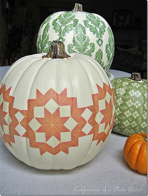 Decoupage Pumpkins - 11 ideas for pretty pumpkins decorating your small space