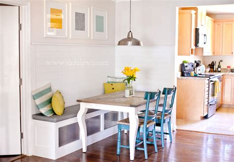 get this look corner banquette construction