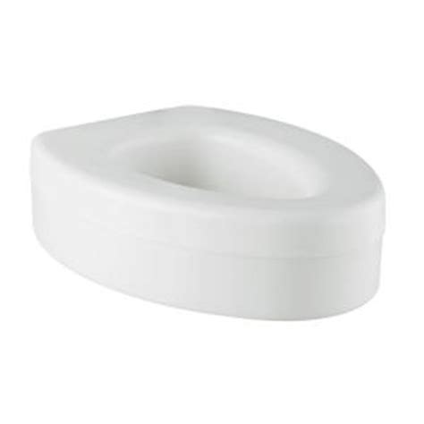 safety elongated elevated toilet seat in white