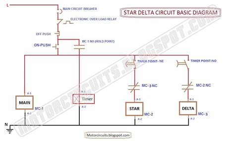 wiring diagram delta connection circuit