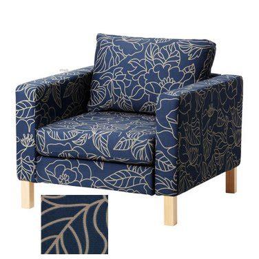 ikea karlstad armchair cover ikea karlstad armchair slipcover chair cover bladaker blue beige blad 229 ker