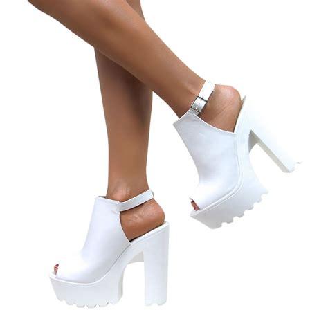 chunky platform high heels womens cleated sole high heel chunky platform boots