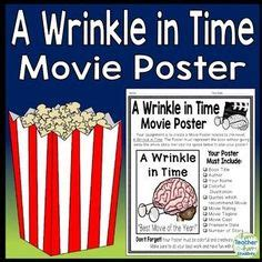 a wrinkle in time book report book report poster template works with any fiction or non