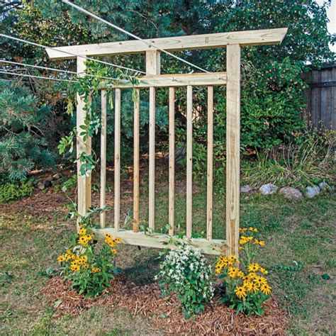garden trellis plans multi purpose garden trellis plans diy mother earth news