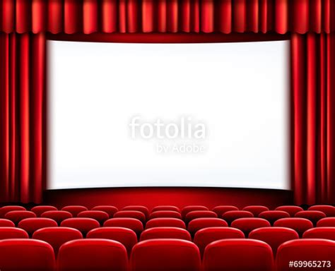 fondo cinema quot rows of red cinema or theater seats in front of white blank scre quot stock image and royalty free