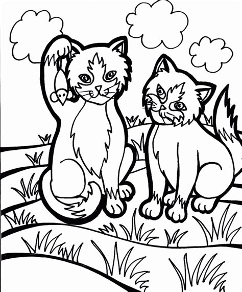 Cat Coloring Page Cat Free Printable Coloring Pages Animals Print And Color L