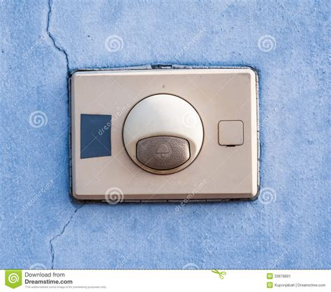 Front Door Buzzer The Entry Buzzer Stock Image Image 33878891
