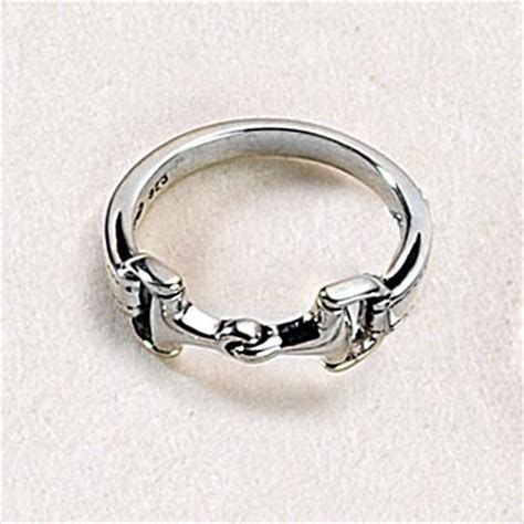 snaffle bit ring sterling silver s equestrian