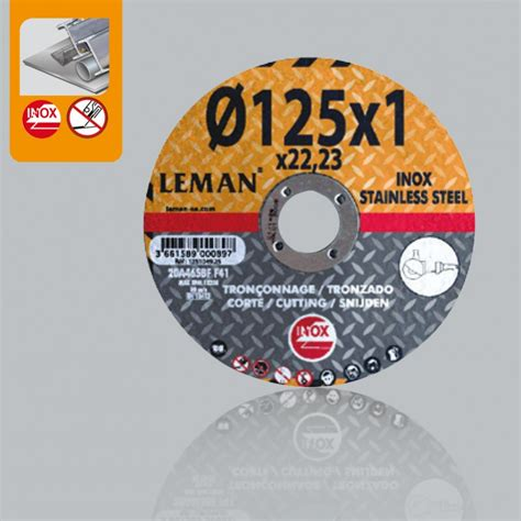 Cut Disc For Stainless Steeldouble Net Cutting Discs For Stainless Steel Leman Sa